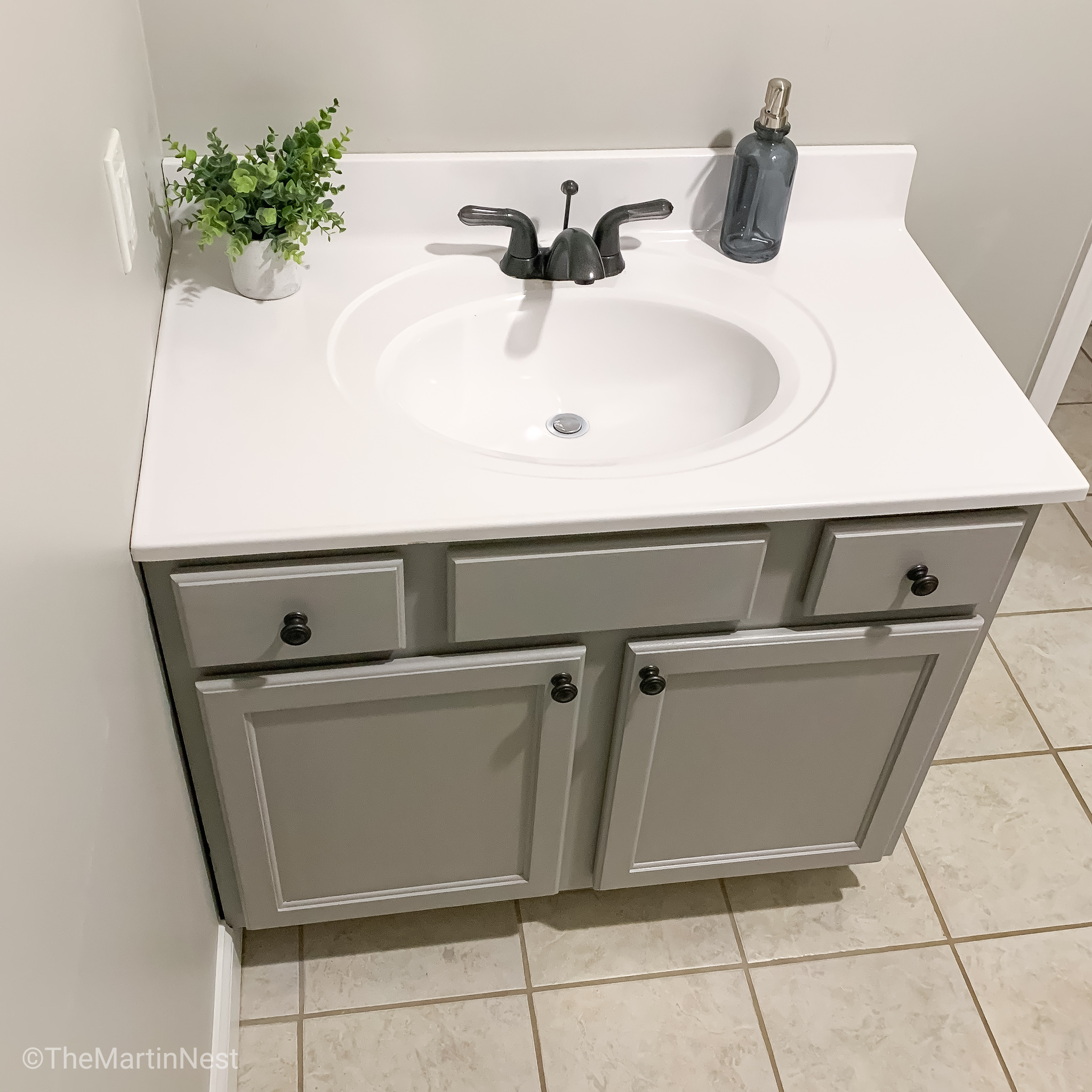 Painted Bathroom Sink For Under 5 Themartinnest Com