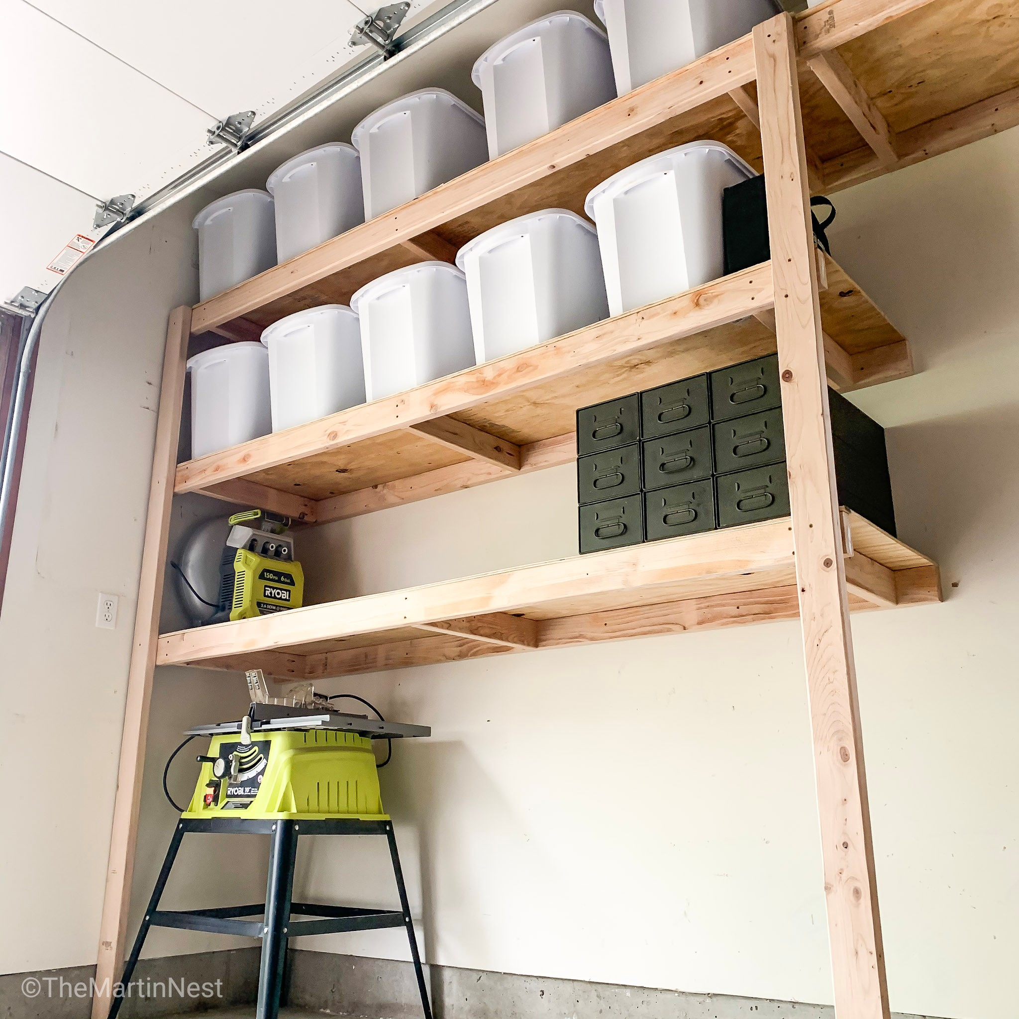 How To Build Easy Diy Storage Shelves, How To Build Shelves In Garage Wall